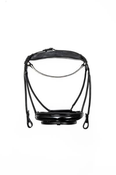 Bilde av Finesse Bridles hodelag dressur svart/svart lakk